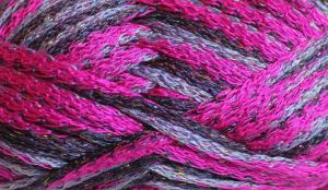 This is Shade 07, Fushia with lilac and purple with a silver lurex thread